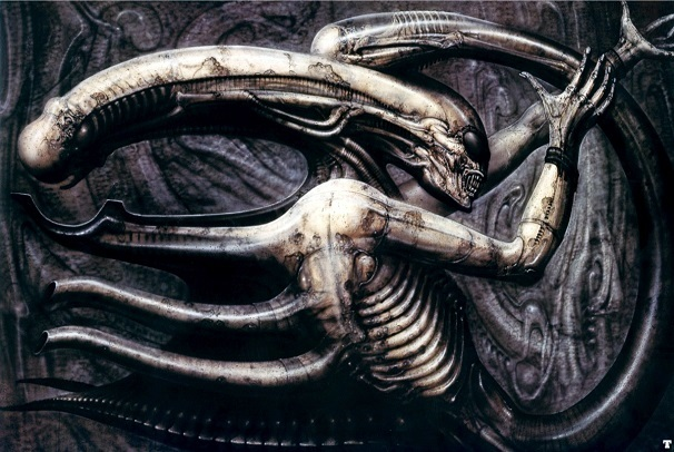 Necronom IV, a surreal e erótica ilustração de H. R. Giger que inspirou o alien/xenomorfo