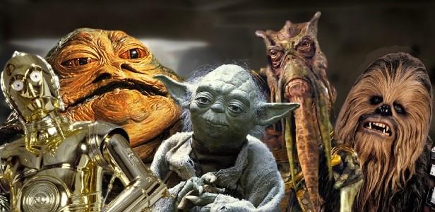 Em Star Wars a diversidade linguística parece ser concebida de modo intuitivo, o que faz aparecerem alguns exemplos pitorescos saídos da imaginação fantástica e talvez por isso sejam mais interessantes do ponto de vista de um possível vislumbre da radical diversidade de formas de comunicação no Universo