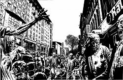 """O apocalipse zumbi de """"The Walking Dead"""", ilustrado por Charlie Adlard"""