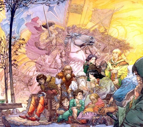 Homens, Anões, Hobbits e Elfos