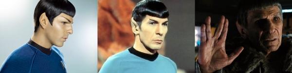 Spock em três fases da vida