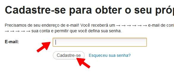 Insira seu endereço de e-mail