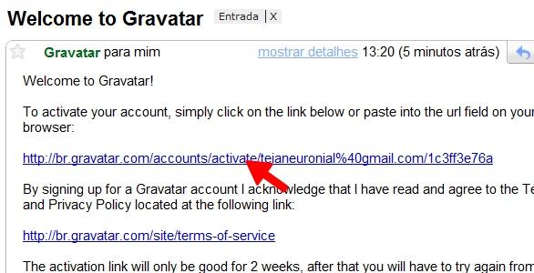 Confira seu e-mail e clique no link de confirmação