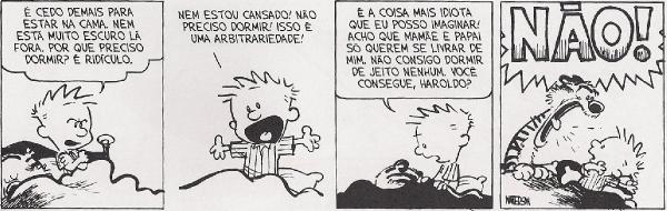 Calvin não consegue dormir