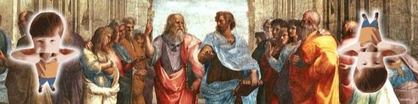 Escola de Atenas, de Rafael, e um... menino