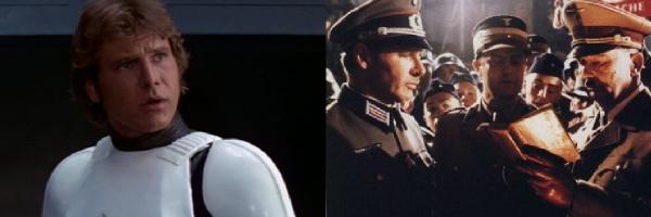 Han como stormtrooper e Indiana como nazista