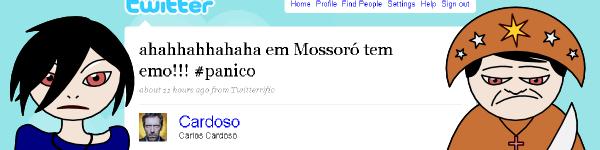 Comentário de Cardoso sobre emos em Mossotó