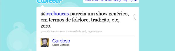 Comentário de Cardoso sobre festa junina em Mossoró
