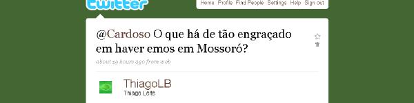 Pergunta a Cardoso sobre emos em Mossoró
