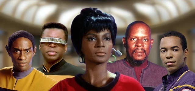 Alguns dos personagens negros em Star Trek