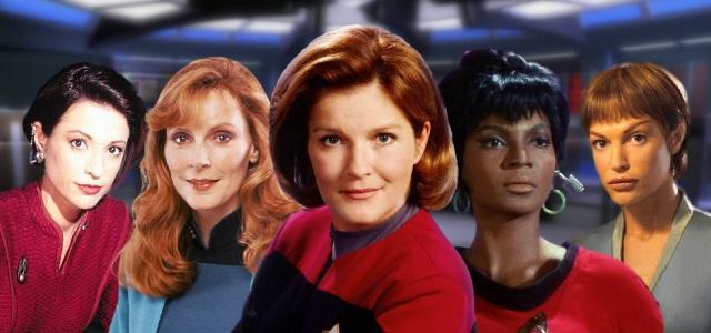 Algumas das mulheres de Star Trek